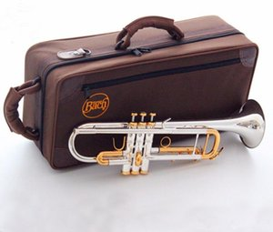 Bach LT180S-72 Bb super Trumpet Instruments Surface Golden Silver Plated Brass Bb Trompeta Professional Musical Instrument