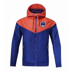 homens Bordeaux jaquetas de futebol capuz Zipper Windbreaker, Bordeaux jaqueta corta-vento de futebol Sportswear casaco de futebol jaquetas masculinas