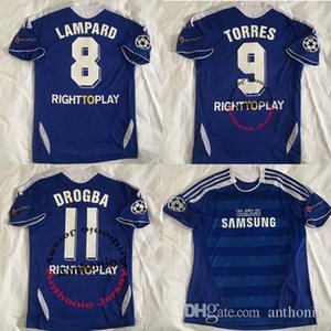 2011 2012 TORRES 9 MATA étoiles maillot de football rétro Lampard 8 Drogba 11 chemises de football éponge classique 03 05 Football Shirt Maillot de Foot 1516