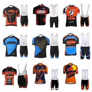 2018 Pro Team Ktm Jersey Abbigliamento da ciclismo Estate Quick Dry Ropa Ciclismo Maglia da bici da ciclismo Pantaloncini da mountain bike Set 90725j