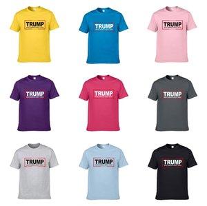 2020 Новый конструктор качества хлопка Новый O-образным вырезом с коротким рукавом Трампа T-Shirt Men Трампа T-Shirt Мода Стиль Спорт Трампа T-Shirt FR12 # 408