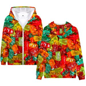 3D Hoodies Couples Matching Clothes Casual Long Sleeve Loose Hooded Cardigan Sweatshirt Fashion Autumn Couples Clothing