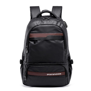 Multifunctional Laptop Backpack sleeve case bag Waterproof USB Charge Port Schoolbag Hiking Travel bag Preppy Style Schoolbag