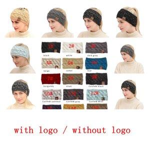 21 cores de malha de crochê faixa de crochet twist mulheres headband inverno orelha aquecedor elástico faixa de cabelo para mulheres acessórios de cabelo largo kka7522