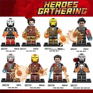 Figure Blocks Building Blocks Minifig Tony Stark Mark GD230 ABS Punisher War Machine figurato Blocchi regalo