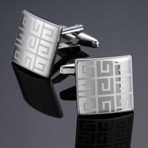 İş Stil Kol Düğmeleri Fransız Gömlek Bay kol Studs Lüks Bakır Lazer Manşet Düğmeler High End Moda Takı Sıcak Satış