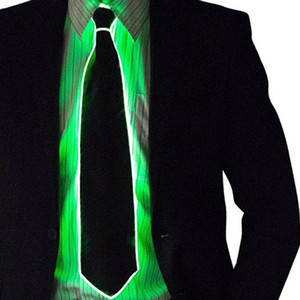 Halloween EL LED Light Tie Carnival Party Props, New Product Party Supply Christmas Colorful Tie With LED Light
