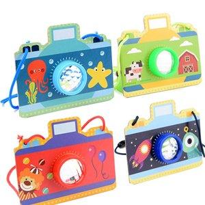 키즈 클래식 장난감 시뮬레이션 다채로운 카메라 폴리 프리즘 만화경 장난감 매직 만화경 판지 종이 장난감 아기 Educaional