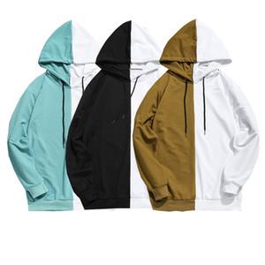성인 남여 남성 바느질 후드면 후드 자켓 점퍼 인과 기본 빈 일반 티셔츠