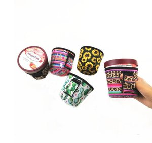 2019 New Fashion Ice Cream Can Cooler Cover, Kugie with Leopard 및 Cactus Neoprene Can Holder Cover