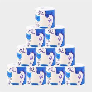 10 Rolls Tuvalet Kağıdı Havlu Kalın Yumuşak 3 Kat Rulo Kağıtlar Banyo Tuvalet Kağıdı Kağıt Sağlıklı Bakire Odun Hamuru Peçeteler DBC BH3505 Smooth