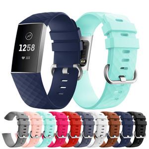 Correa de reloj deportivo de silicona suave y colorida para Fitbit Charge 3 Correa de correa de reloj para Fitbit Charge3 Accesorios para relojes inteligentes Correa de bandas
