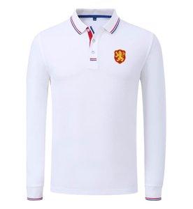 Болгария Футбольная команда Wholesales настроить логотип Мужская дышащий с длинным рукавом Поло Футбол Спортивная одежда Гольф спортив-