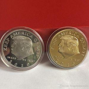 2020 Donald Trump Trump commémoratif Coin président américain Avatar Pièces d'or Badge Collection Metal Craft républicain Coin BH2107 TQQ