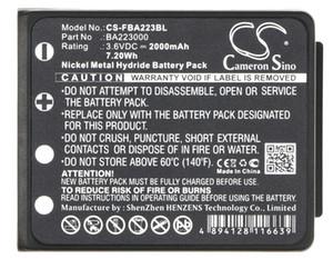 Cameron Sino 2000mAh Battery BA223000 for HBC Radiomatic Keynote,Linus 4,Micron 4,Micron 5,Micron 6,Micron 7,Quadrix, Vector Pro