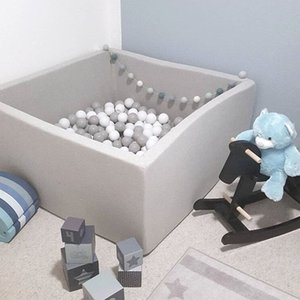 Play House Baby Ocean Ball Pool Pit Grey Pink Blue Kids Outdoor Fun and Sports Fencing Manege Tent Square Play Ball Pits Toys
