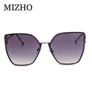 Mizho أسلوب جديد اون لاين المشاهير نمط نظارات شمسية نسائية Online مشهور نظارات القط العين إطار كبير F كلمة التدرج نظارات fcyUH