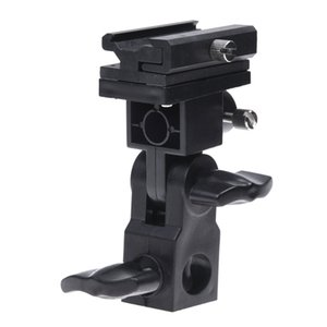 Negro giratoria flash para luces Soporte de montaje de zapata Paraguas Tipo B Holder