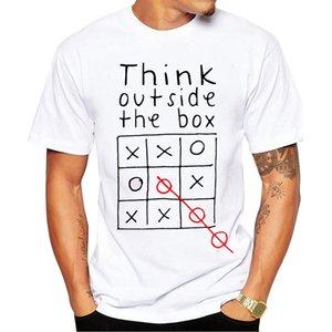 Think Out Side Cool The Box Мужчины Мужской Письмо Цитата Модальные Футболка С Коротким Рукавом O Шеи Смешные Индивидуальные Топ Тройники Mx130 J190612