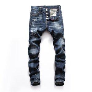 2020 Erkek sıcak tasarımcı kot Casual Slim Biker Jeans Denim Delik hiphop Yırtık Pantolon Yüksek kaliteli mens skinny jeans
