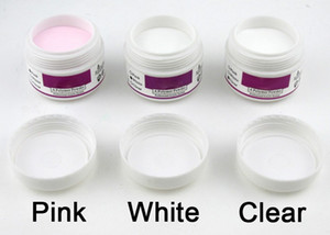 Hot sale 1 PCS WHITE CLEAR PINK Color Acrylic Powder For Nail Art False Tips Tool