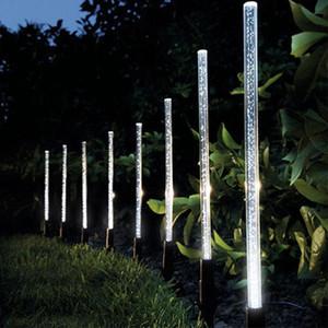 Güneş Enerjisi Tüp Işıklar Lambalar Akrilik Kabarcık Yolu Çim Peyzaj Dekorasyon Bahçe Çubuk Stake Işık Lambası Seti