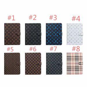 Moda monograma Caso Designer com suporte e Folio para Ipad Air Mini Premium Cover Caixa Leather Pockets Shell com fecho magnético