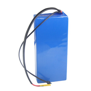 Free shipping waterproof rechargeable 52v lithium ion battery 30ah for 500W to 1250W moto with 3A Charger and fuse