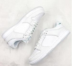 Moda Klasik Elmas Tedarik Co x SB Dunk Düşük PRO QS Kaykay Ayakkabı Erkek Kadın Beyaz Siyah Sarı Sneakers