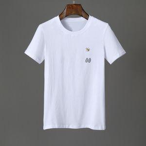 luxo designer para homens camisetas Clássico Summer Fashion abelha letra da cópia simples de algodão Casual camisa grande em torno do pescoço T T Top Tshirts