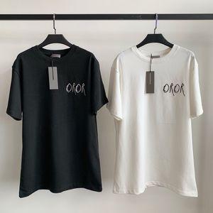 19SS Chirsstian sánscrito logotipo de la calle camiseta de la moda monopatín camiseta de los hombres de las mujeres simple informal de manga corta de gran tamaño HFLSTX499