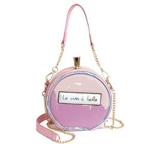 Mode-Rundschreiben Gedruckt Parfümflakon-Form Damen Leder-beiläufige Handtaschen-Ketten-Partei-Handtasche Schultertasche Messenger Bag Bolsa