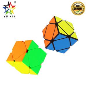 2019 YUXIN LITTLEMAGICSKEW 2x2 Speed Cube Magic Bricks Block Bloquear el enigma Juguetes de regalo de Año Nuevo para niños Para SKEW Magic Cube