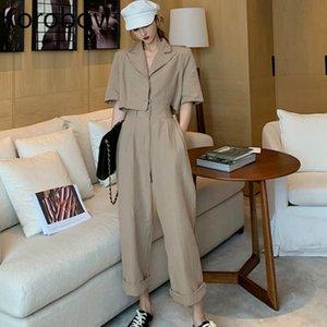 Коробов лето новый короткий блейзер и брюки женщины 2 шт набор корейских женщин бегунов костюм наборы Сафрия стиль женские наряды 78802