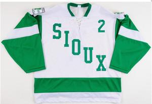 1959 Retro 2007-08 Universidade de Dakota do Norte Fighting Sioux Hockey Jersey Bordado Costurado Personalizar qualquer número e nome