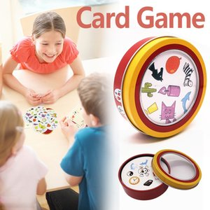 Spot It Board Game English Card Game مع Metal Box Family Party Entertainment 55 Cards / set