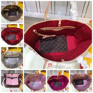 High Quality louisbagsvutton monogram bag Naverfull Never Totes MM GM Fashion clutch shoulder shopping handbag