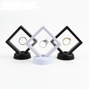Bianco Black Jewelry Ring Pendant Display Stand Supporto Suspenso Display galleggiante GIOIELLI GIOIELLI MONETE Gemme Artefatti Scatole di imballaggio LX7771