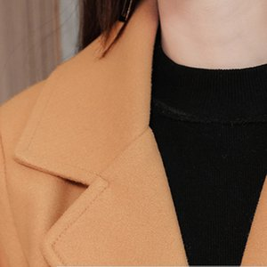 2019 Autumn Winter New Womens Long Woolen Coat Solid Woolen Coat Female Long Section Korean Version Of The Fashion Coat#J30