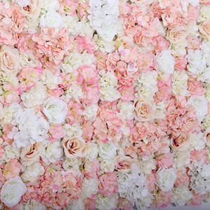 ARTIFICIAL FLOWER WALL 60X40CM ROSE HYDRANGEA PANEL WEDDING BACKGROUND BACKDROP For Wedding Party Decoration Supplies customer