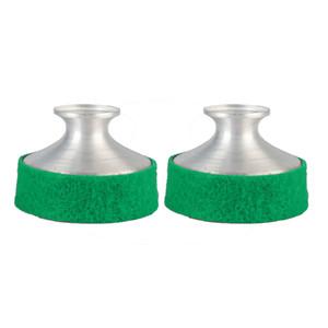 NAOMI 2 PCS Praticar Peso Leve Saxofone De Alumínio Silenciador Silenciador Para Saxofone Alto Sax Amortecedor Verde