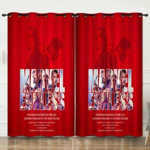 3D printed curtain Marvel Avengers Alliance 3D luxury window curtains for living room Spider-Man pillowcases Iron Man