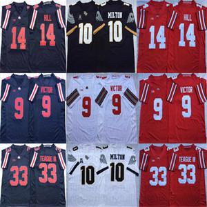 9 Binjimen Victor 14 K.J. Colline 33 Maître Teague III Ohio State Buckeyes NCAA 10 McKenzie Milton UCF Knights College Football Maillots