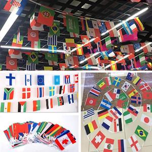 2018 Flag Football Cup 32 Country Strings Flags 14 * 21cm Banner Bar Party Decoration Banderas colgantes de interior al aire libre XD20072