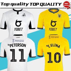 Swansea 19 20 Cidade de Futebol Início terceira camisa BORJA PETERSON PETERSON CELINA A Ayew Futebol 2019 especial 2020 de edição limitada