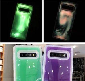 Custodia liquida luminosa per Iphone XS MAX X XR 8 7 Plus 6 6P TPU morbido Sabbie mobili Bagliore nel buio Moda di lusso Cover posteriore trasparente