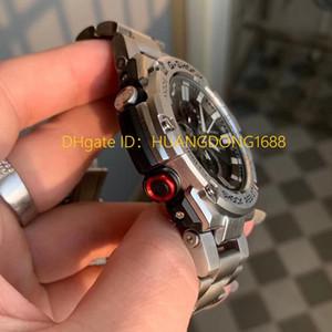 Im Freien klassischen GST-B100 Edelstahl Stoß- Dial One Button Illumination Stoß- Magnetic Magnetic Wasserdicht Kalender-Uhr