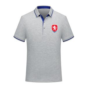 Tasarımcı Çek Cumhuriyeti yeni gündelik polos gömlek kısa kollu yaka polo futbol polo gömlek Erkekler milli takım antrenman forması Polos