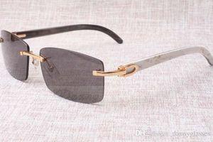 Hot rahmenlos Sonnenbrille-Gläser 3524012 Natur Mix Rindhorn Männer und Frauen Sonnenbrille Brille eyeglassessize: 56-18-140mm