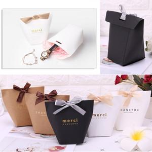 5pcs спасибо бумаги конфеты шоколад торт коробка подарок мешок свадьба пользу партии декор C18112701